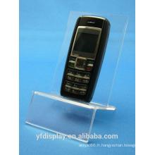 Titulaire d'acrylique clair téléphone portable sur mesure