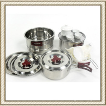Stainless Steel Wild Camping Cookware Set (CL2C-DT05)
