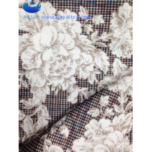 Coffee Espresso Flower Design Printing Sofa Fabric (BS8129-1)