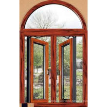 Hot Seller Double Tempered Glass Aluminum Arc Window
