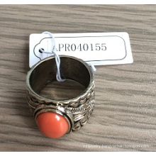 Metal Ring with Stones Fashion Jewelry