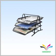 Офис организатор черный металлический провод сетки 3 уровня стол лоток для бумаги