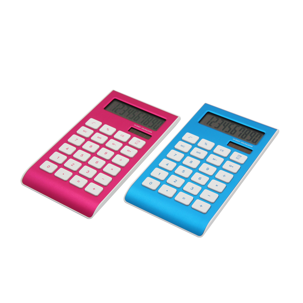 Dual Power 10 Digit Calculator with ABS Aluminum Surface