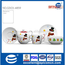 3pcs kids set with snow man painting for Christmas