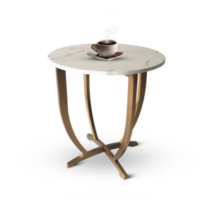 Round marble top originality stainless steel side table