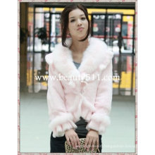 fah015 OEM wholesale long fur garment fur clothing rabbit fur mink fur clothing fur jacket