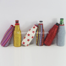 Gesublimeerde Glitter Bottle Cooler Holder