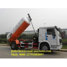 Camión de succión de aguas residuales 6M3 290hp howo