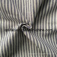 Tissu en coton / lin / poly mélangé teint (QF13-0748)
