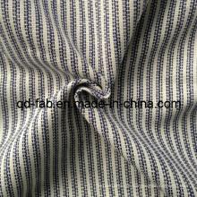 Algodão / linho / poli tecidos misturados fios tingidos (qf13-0748)