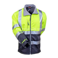 Men's Water-Resistant High-Visibility Work Jacket