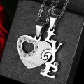 Collier amour couples pendentif en forme de coeur Fashion