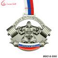 Fabrik benutzerdefinierte Gewichtheben 3D Metall-Medaille (LM1002)
