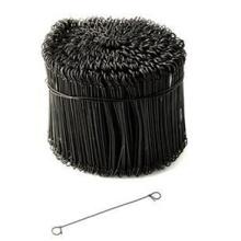 Fil de cravate à double boucle recourbé noir, fil de reliure, fil à balles