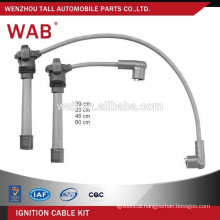 Silicone material generator spark plug ignition wire ignition cable kit for FIAT 46743086