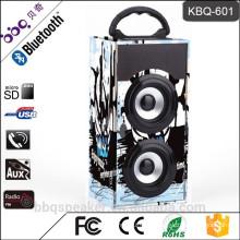 Low price KBQ-601 active portable wireless bluetooth small speaker disco light USB FM