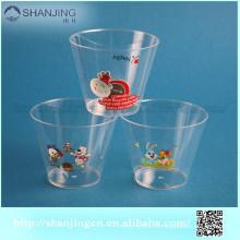 8 унций Eco-содружественная чашка мороженного печать логотип пластиковые десерт чашки