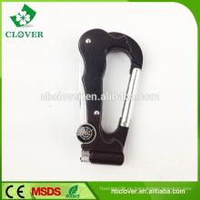 Multifunktions-Mini-Falttasche 5 in 1 Karabiner-Taschenmesser mit Licht