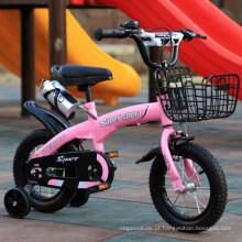 """12 """"bicicletas das crianças da armação de aço com o guarda-lamas caçoam a bicicleta com rodas de treinamento"""