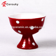 Colorful bulk ice cream bowl with spots