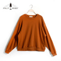 100% Cotton Lady O-Neck Breathable Autumn Crop Hoodies