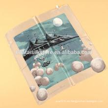 Bolso de satén de seda de la decoración pequeña bufanda