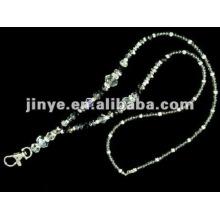 Correia frisada de cristal da jóia de pedra preciosa de Bling com o presente chave da promoção da lagosta