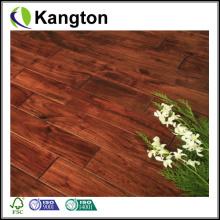Revestimento de madeira maciça de acácia natural Handscraped (piso de madeira maciça)