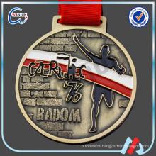 steel medallion pendant