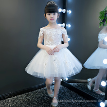 Ivory Flower Short Sleeve Girl Gowns