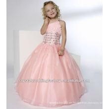Un hombro rebordeado ruched rosa falda de vestido de bola por encargo vestido de fiesta vestidos de chica de flor CWFaf4136