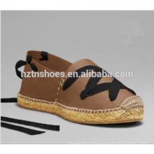 2016 Ladies Espadrille Shoe Casual Shoes Ankle Wrap Flat Shoes