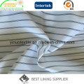 100% Polyester Yarn Dyed Stripe Sleeve Lining Fabric