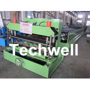 Color Steel Glazed Tile Roll Forming Machine With Plc Computer Control To Europe