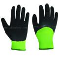 Нейлона и спандекса трикотажные перчатки работы с 3/4 Сэнди нитриловые погружения (N1571)