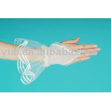 2013 Brauthandschuh ohne Finger Spitze Handgelenk Länge 004