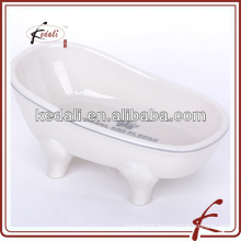 high quality ceramic decal bathtub soap dish