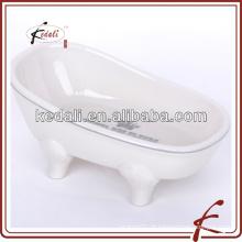 Alta qualidade cerâmica decalque banheira saboneteira