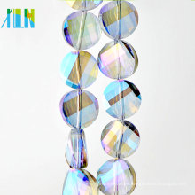 Coin Crystal Glass Faceted Rondelle beads