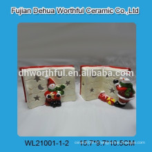 Décor de Noël en céramique à LED avec décor de livre