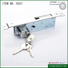 furniture hardware room security sliding door lock with flat hook