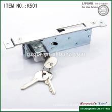 Fechadura de porta deslizante de segurança de sala de ferragens para móveis com gancho plano