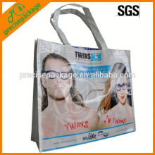 Fashionable laminated non woven handbag for glasses promotion