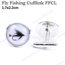 Nouveau bouton de manchette de pêche à la mouche