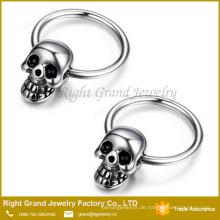 Schädel-Band-Ohr-Ring der gotischen chirurgischen Stahlmänner
