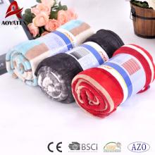 Manta de lana de coral impresa confiable y barata con colores