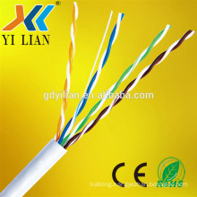 Low loss customized round solid copper UTP FTP SFTP CAT5E CAT6 CAT7E network Cable and lan