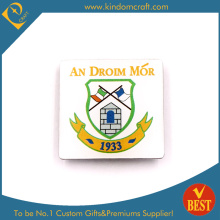 Droim Mor Police Badge with Good Quality in White Background