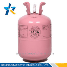 Industrial grade 11.3kg/25lbs disposable cylinder packing Cheap price R410a refrigerant gas from Chinese refrigerant factory Y
