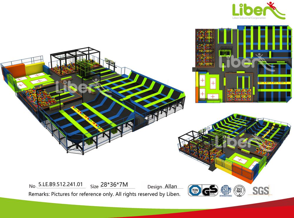 Kina barn stora motion inomhus trampolin park tillverkare for Indoor trampoline park design manufacturing